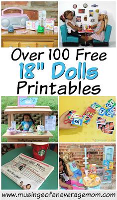 Free 18 inch doll printables