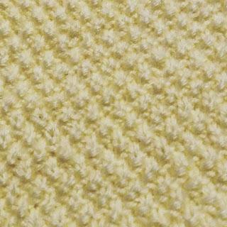Moss stitch close up
