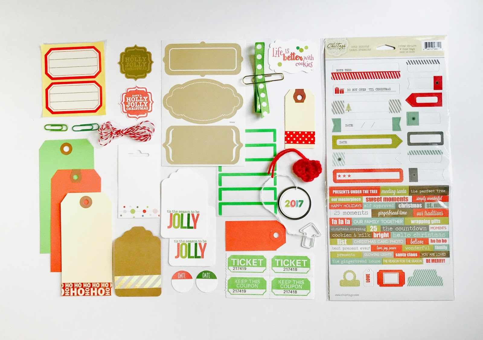 #stickers #labels #christmas #embellishments #scrapbooking #planner #addict #mini #book