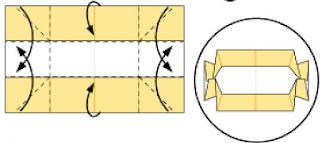 Bước 8: Gấp cạnh giấy như hình vẽ