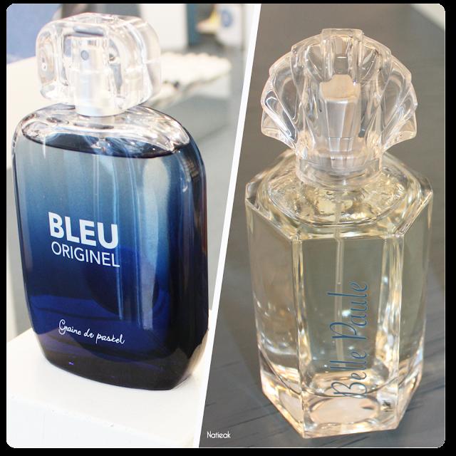 parfum Bleu originel et Belle paul  de Graine de Pastel