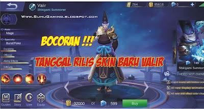 Skin Spesial Valir Shikigami Summoner Mobile Legends: Bang Bang