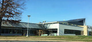 Solar panels on roof of Gaithersburg Library