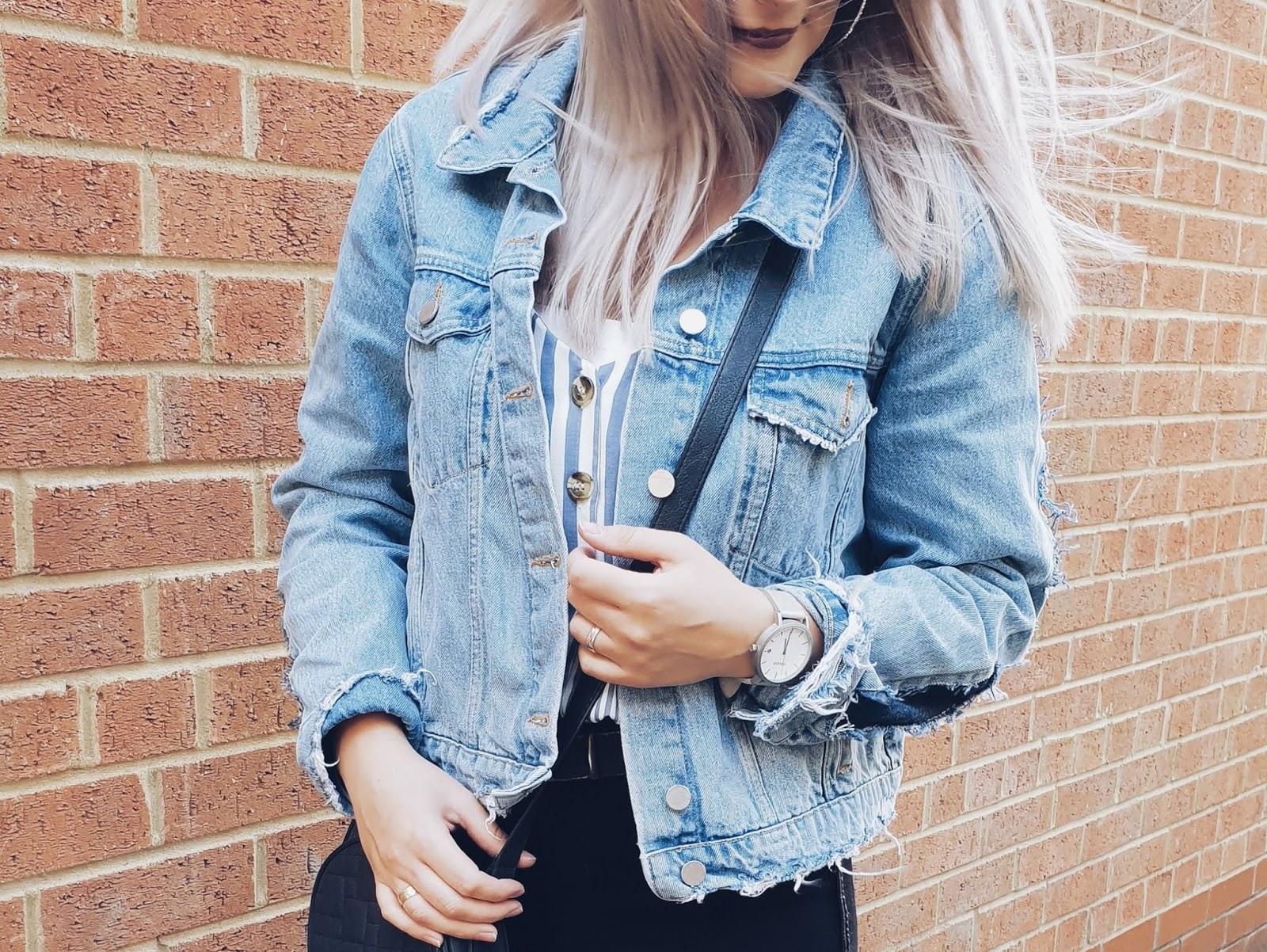 Denim jacket & high heels czyli niezobowiązująca stylizacja na wieczorne wyjście