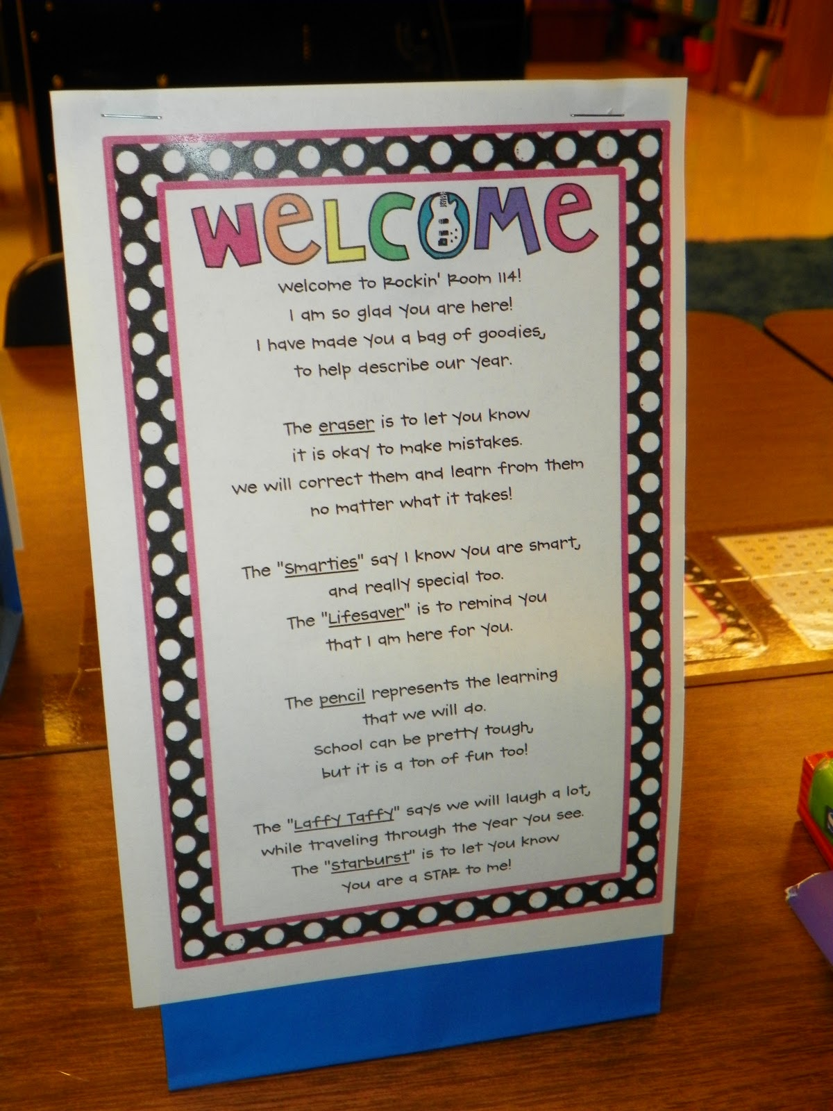 Serenade To Second Grade Welcome Bags