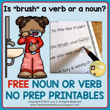 FREE Noun or Verb Worksheets