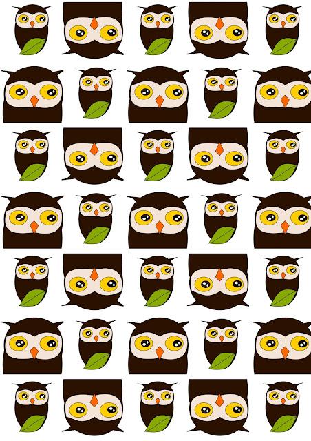 Free digital owl scrapbooking paper - Eulenpapier - freebie