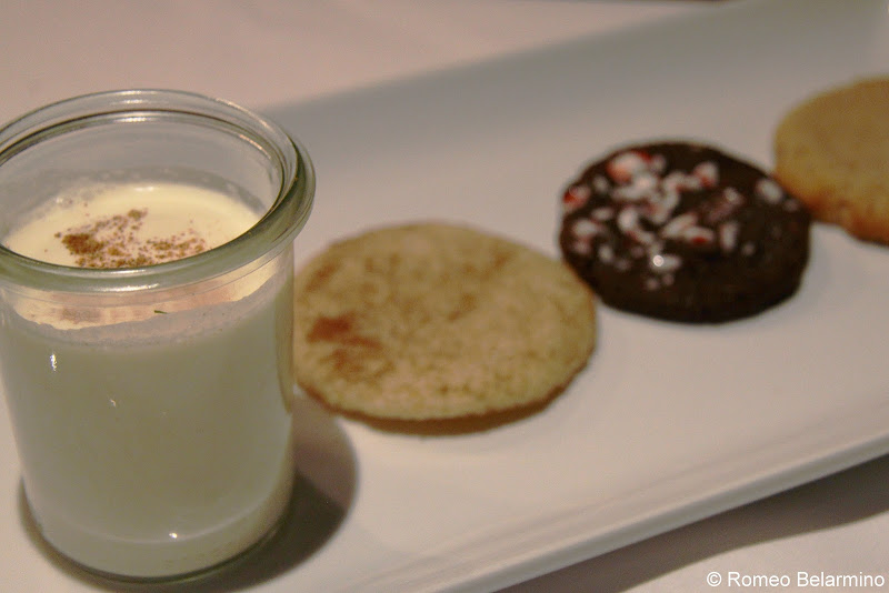 Brandy Milk Punch and Cookies The Bombay Club Réveillon Menu New Orleans