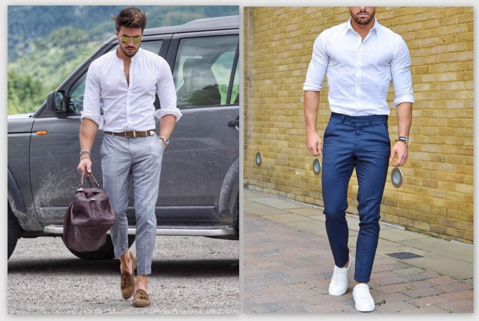What Shoes To Wear With White Trousers