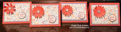 Linda Vich Creates: 2017 Catalog Launch Party. Cards designed as a group activity.