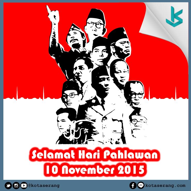Gambar Vector - Vector Ucapan Selamat Hari Pahlawan 10 November 2015