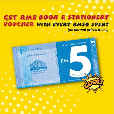 Free RM5 Book & Stationery Voucher