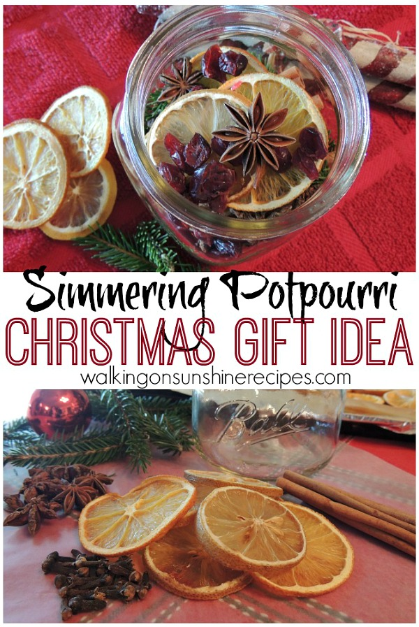 Homemade simmering potpourri from Walking on Sunshine Recipes makes a great gift.