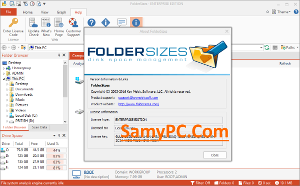 FolderSizes Enterprise Edition Free Download Full Latest Version