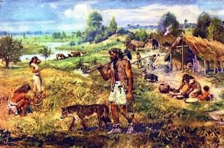 ricerca sul neolitico, testo e immagini