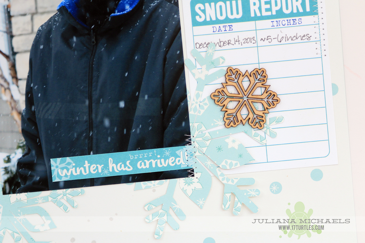 Let It Snow Scrapbook Page by Juliana Michaels featuring digital cut file by Elle's Studio