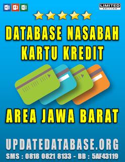 Jual Database Nasabah Kartu Kredit Jawa Barat