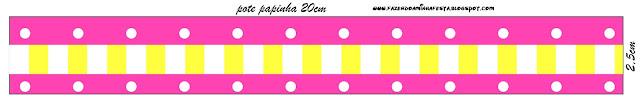 Etiquetas de Rosado y Amarillo para imprimir gratis.