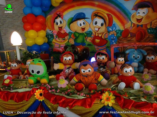 Decoração aniversário Turma da Mônica - Mesa tradicional luxo