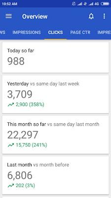 Jumlah klik AdSense mobile