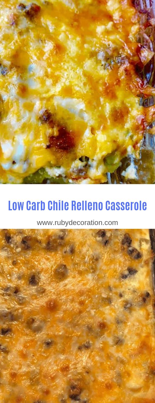 Low Carb Chile Relleno Casserole