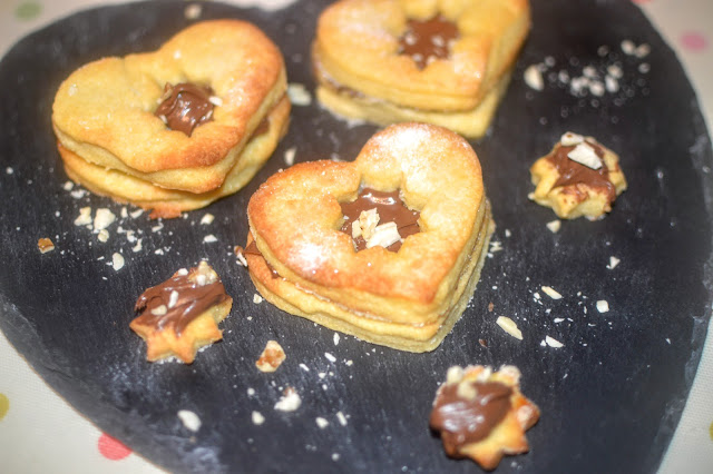 Homemade Nutella not Jammy Dodger Biscuits recipe