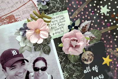 Amazing Layout Journal Spot Closeup by Dana Tatar for Scraps of Darkness - August 2017 Sparkle and Shine Kit
