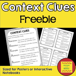 context clues, reading strategies, interactive notebooks