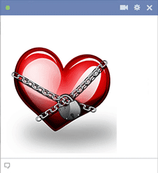Sticker heart in chains