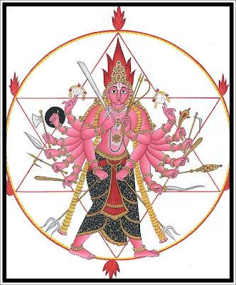 Lord Sudarshana wheel of Vishnu and Sudarshana Maha Mantra Lyrics
