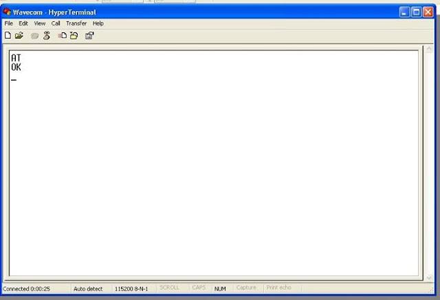 Mengubah Baudrate Setting Modem GSM Wavecom dengan Hyperterminal
