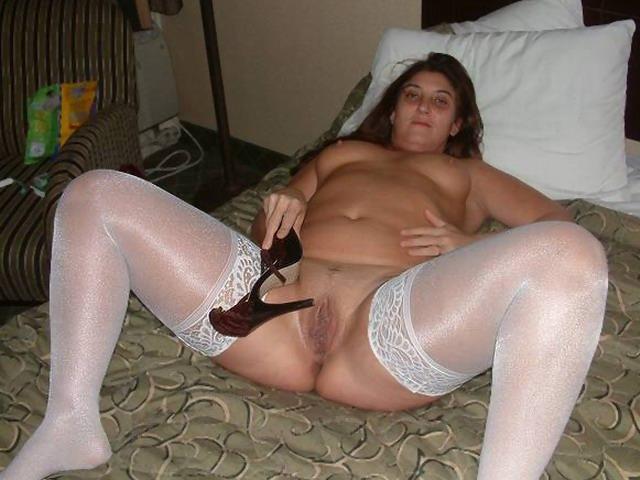 stockings spreading Bbw