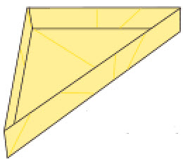 Bước 13: Hoàn thành gấp 1 mặt hình hộp giấy