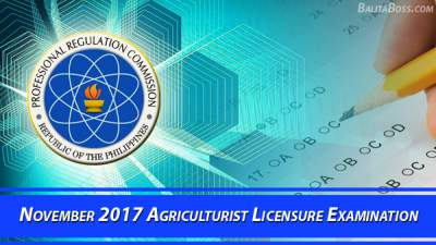 Agriculturist November 2017 Board Exam