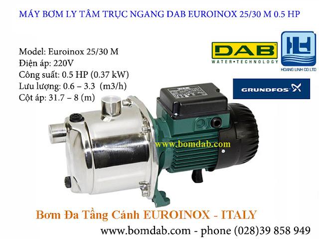 máy bơm tự mồi đa tầng cánh euroinox 25/30m