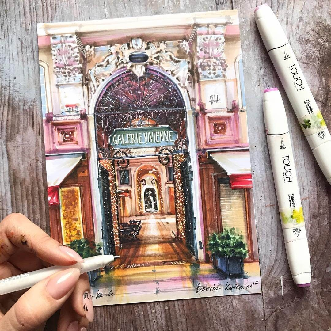03-Galerie-Vivienne-Katerina-Brovka-Architecture-in-Bright-Color-Drawings-www-designstack-co