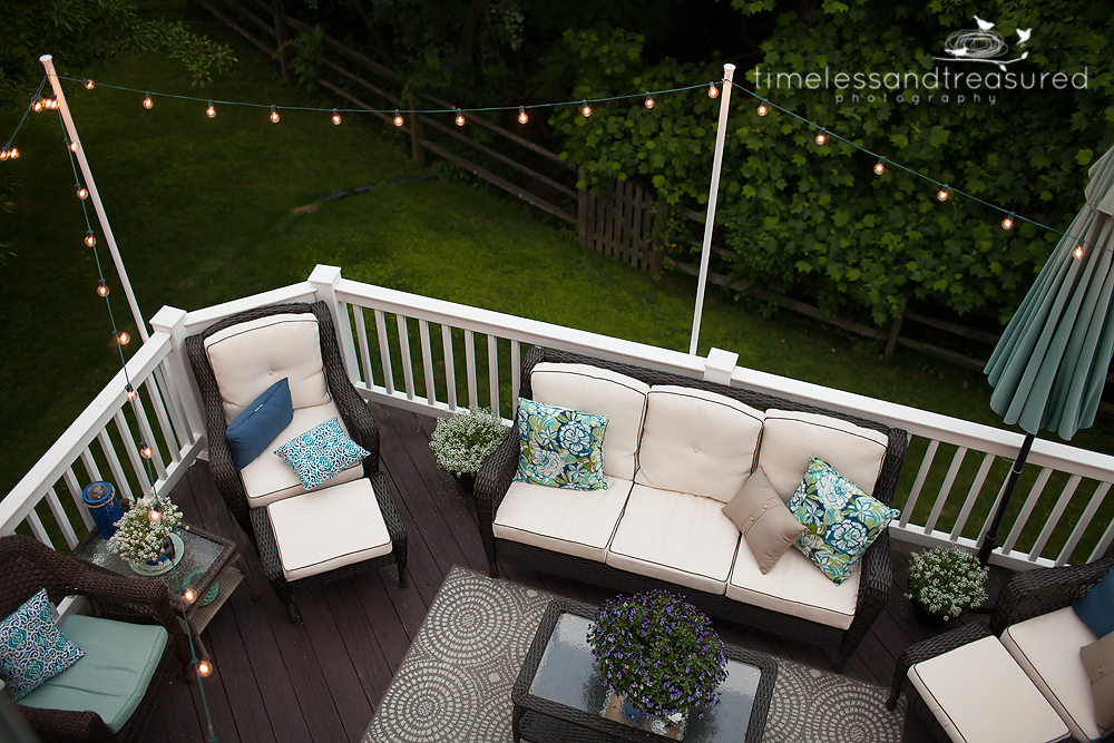 Timeless and Treasured - My Three Girls: How to Add String Lights to Your Patio
