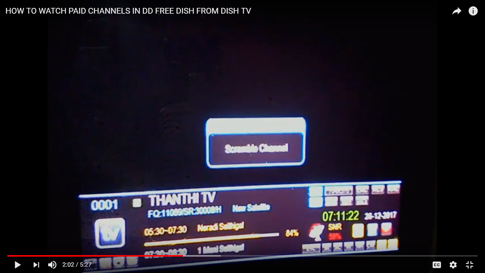 HOW TO WATCH SCRAMBLED OR ENCRYPTED CHANNELS IN DD FREE DISH,DISH TV