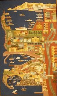 το έργο Πειραιάς του Αγήνορως Αστεριάδη στην Εθνική Πινακοθήκη