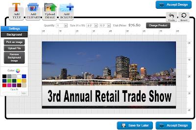Trade Show Banner Template in Online Designer