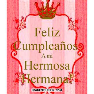 Feliz Cumpleaños Hermana