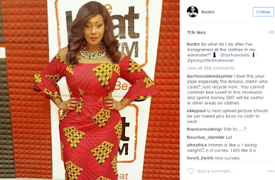Twitter user tries to differentiate between media personality, Toolz' real & photo-shopped curves
