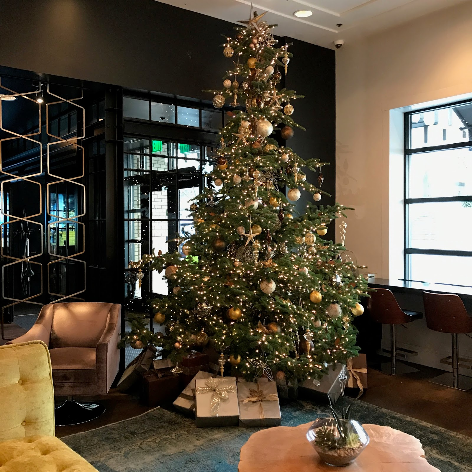 So Then It Was Off Down The Street To Find A Traditional Doug Fir. This  Beautiful Tree Was In The Lobby Of The Hotel Lucia.