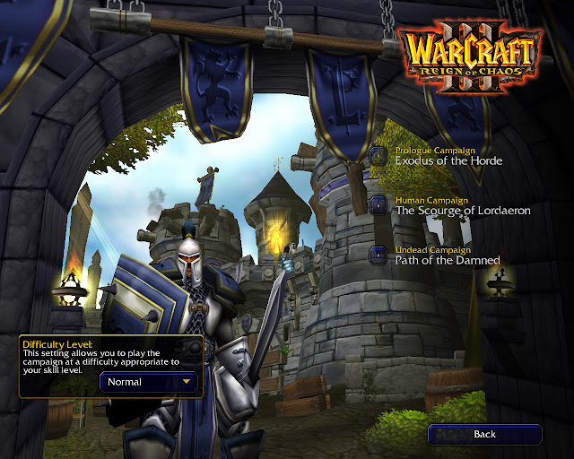 Warcraft 3: Reign of Chaos Main Screen