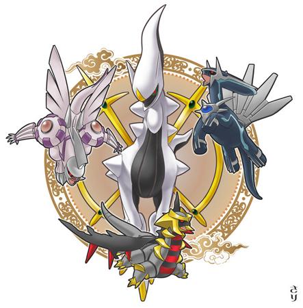 Five Bijjus(Naruto) vs Arceus and the three legendary ...Arceus Vs Giratina Dialga And Palkia