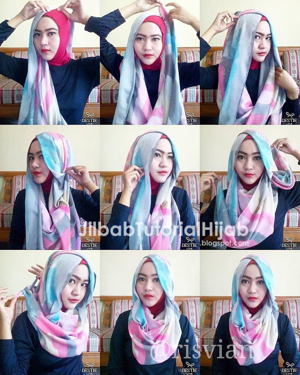 Tutorial Hijab Segi Empat Terbaru Jilbab Tutorial Hijab