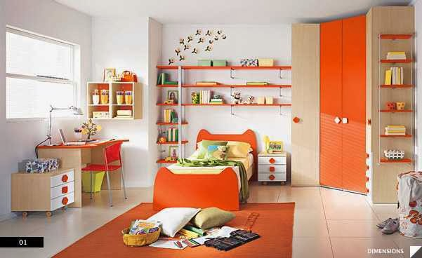 Contemporary Style Bedroom for Kids