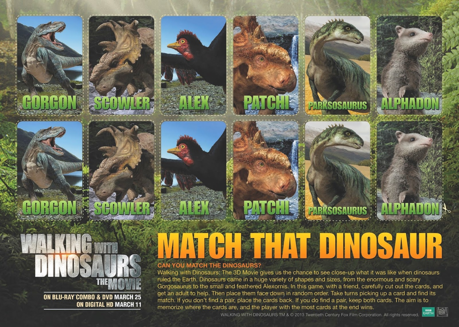 Walking With Dinosaurs Blu Ray Amp Free Activity Sheets Fheinsiders Ad Walkingwithdinosdvd
