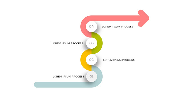 4 Step Process Powerpoint Arrow Diagram Infographic Templates slide2