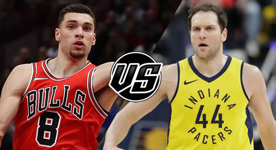 Live Streaming List: Chicago Bulls vs Indiana Pacers 2018-2019 NBA Season